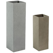 2 Piece Sharma Cement Vase Set