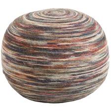 Chaska Round Swirl Pouffe