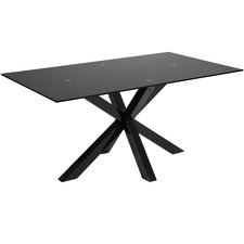 Black Halvor Glass Dining Table