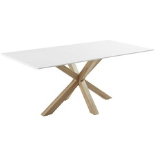 White & Natural Cali Dining Table