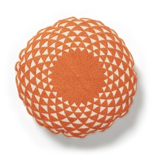 Geometric Sosa Round Cotton Cushion