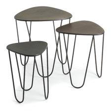 3 Piece Triangular Side Table Set (Set of 3)