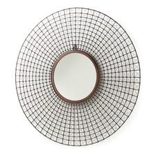 Copper Faraz Round Metal Wall Mirror