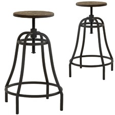 Daeva Adjustable Metal Barstools (Set of 2)