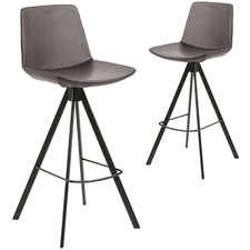 Dallas Faux Leather Barstools (Set of 2)