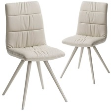 Paphos Faux Leather Dining Chairs (Set of 2)