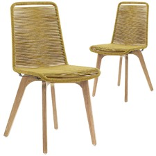 Pedro Rope Outdoor Dining Chairs (Set of 2)