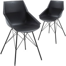 Albin Plastic Dining Chairs (Set of 2)
