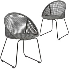 Giovanna Rope Outdoor Armchairs (Set of 2)
