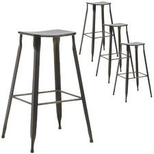 Graphite Dalton Metal Barstools (Set of 4)