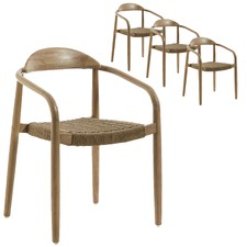 Palaemon Rope Outdoor Dining Chairs (Set of 4)