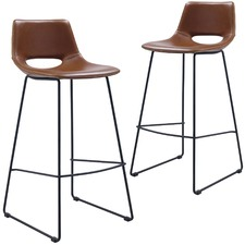 Eada Faux Leather Barstools (Set of 2)
