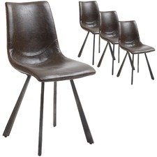 Perseus Faux Leather Dining Chairs (Set of 4)