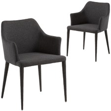 Edith Fabric Dining Chairs (Set of 2)