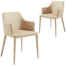 Jana Nubuck Faux Leather Armchairs (Set of 2)