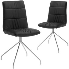 Paton Faux Leather Dining Chairs (Set of 2)