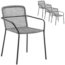 Paz Rope Outdoor Armchairs (Set of 4)