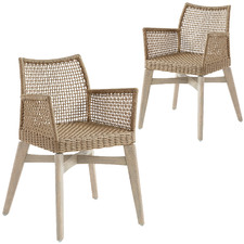 Janis Rope Outdoor Armchairs (Set of 2)