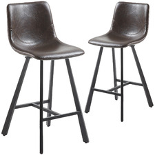 Lazlo Faux Leather Barstools (Set of 2)