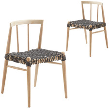 Rhys Rope Outdoor Dining Chairs (Set of 2)