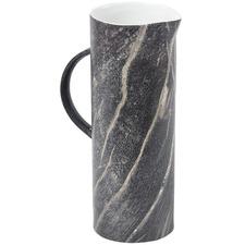 Dark Grey Marbled Vase