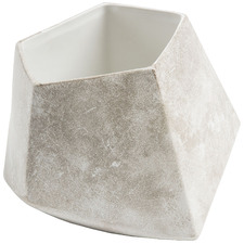 Beige Geometric Ceramic Planter