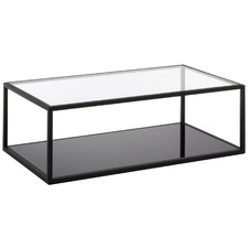 Black & Clear Callista Rectangular Coffee Table
