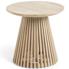 Darla Round Teak Wood Side Table