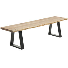 Drava Acacia Wood & Metal Bench