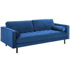 Lincoln Velvet 3 Seater Sofa