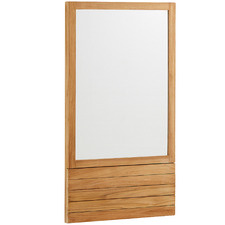 Teak Wood Bathroom Mirror