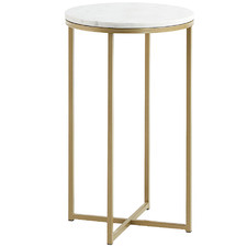 Luxe Lara Metal & Marble Side Table