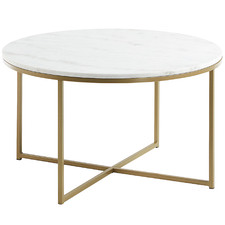 Luxe Lara Metal & Marble Coffee Table