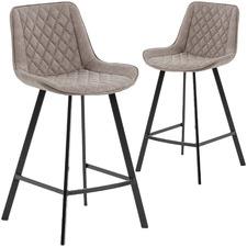 66cm Fonzo Faux Leather Barstools (Set of 2)