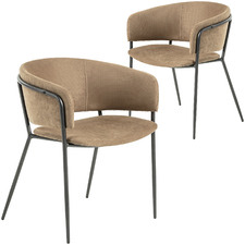Silas Faux Suede Dining Chairs (Set of 2)