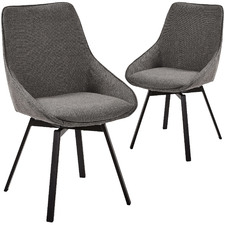 Devin Swivel Dining Chairs (Set of 2)
