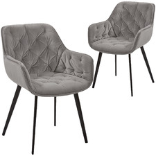 Gustav Velvet Dining Chairs (Set of 2)