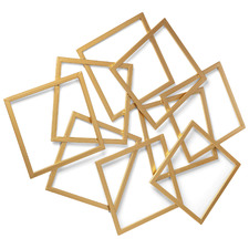 Gold Geometric Metal Wall Accent