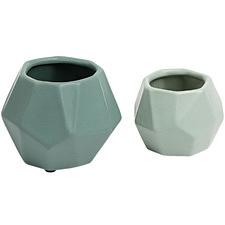 2 Piece Elliot Ceramic Planter Set