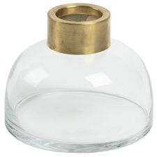 Clear Carisse Glass Vase