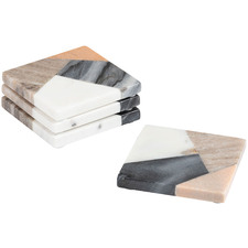 Square Lera Marble Coasters (Set of 4)