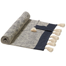 Blue & Beige Santiago Cotton Throw