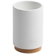 White Elbert Bathroom Cup