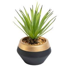 18cm Potted Faux Sword Grass Plant