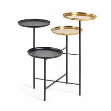 Black & Gold Ruben Multi-Level Side Table