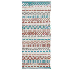 Teal & Red Shery Hand-Woven Outdoor Rug