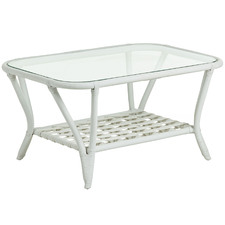 Sheldon Glass & Rattan Coffee Table