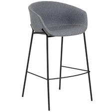 65cm Grey Wool Vanya Barstool