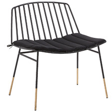 Black Rashi Metal Outdoor Chair