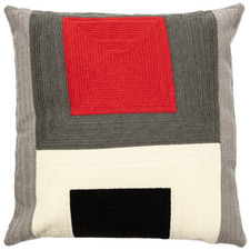 Geometric Rashi Cotton-Blend Cushion